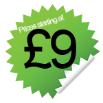 Prices from £9 per week